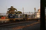 Sleeper train stabled in Dimboola yard on Thurs.26.3.