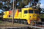 Another foreign locomotive to visit Dimboola for crew training - QRNational's 2821 spent Sat 6th October stabled near the turntable after arriving overnight on their MP1 service.
