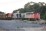 T342-T333-S302 leading the up loaded mineral sands train through Beulah on the afternoon of Sunday 14th April 2013